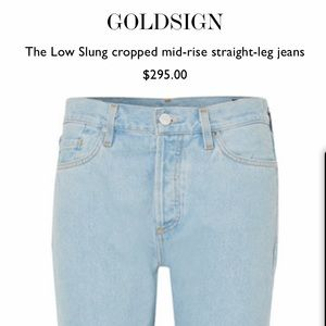 GOLDSIGN- THE LOW SLUNG- BLUE - SIZE 28 New w Tags